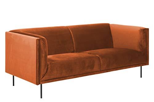 Movian Ola - Sofá de 3 plazas, 88 x 200 x 79 cm (largo x ancho x alto), cobre