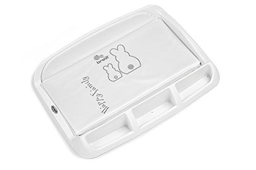 Brevi 006 Tablet Fasciatoio con Portaoggetti, Bianco, Collezione 2019