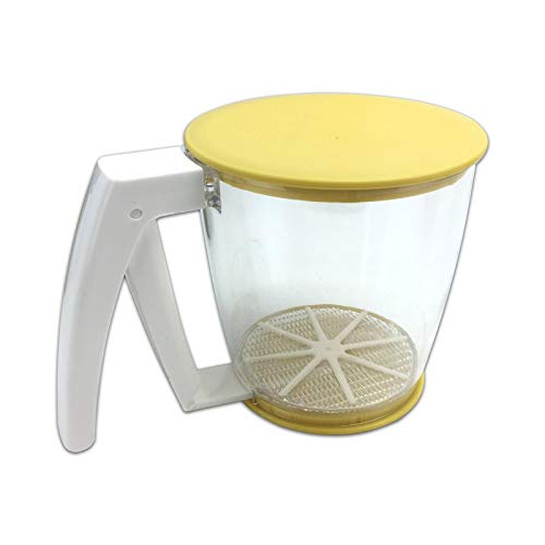ZSRXL Flour Sifter Fine Mesh Handheld Sugar Sieve Oil Strainer Sifters Best for Kitchen Tools for Filtering Food