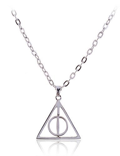 ZBSQDLB Harry Potter Deathly Hallows Resurrection Triangle Circle Pendants & Necklaces