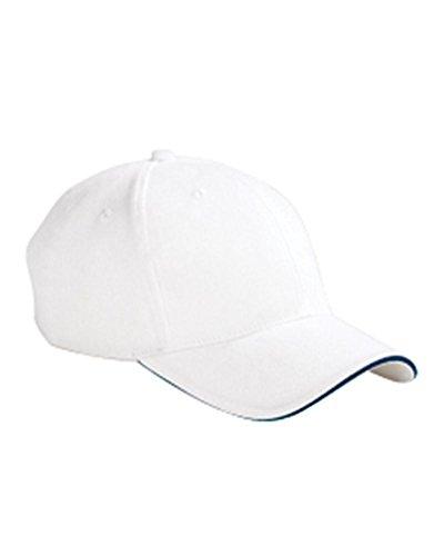 BX004 BX BX004 6PN BR TWL SNDWCH CAP WHITE/ NAVY OS