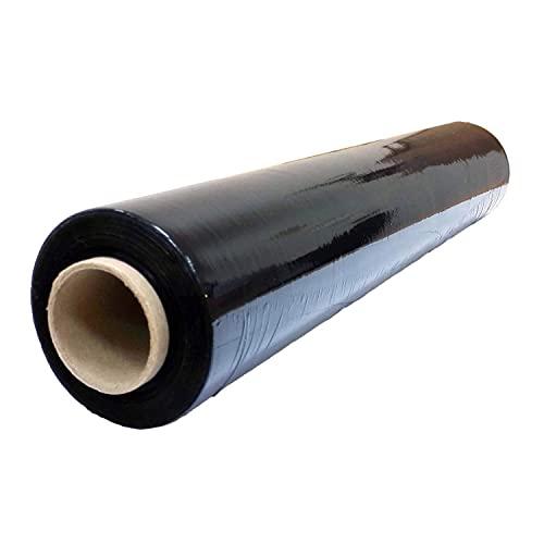 V1 Trade - 1,5 Kilogramm - Hand Stretchfolie 23 my (Black) 500 Millimeter x 225 Meter, Palettenfolie Handfolie Wickelfolie