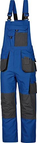 Arbeitslatzhose Power 270 g/m² blau-grau Canvas-Gewebe 3-fachnähte Gr.42-68 / 90-110 / 25-30 (60)