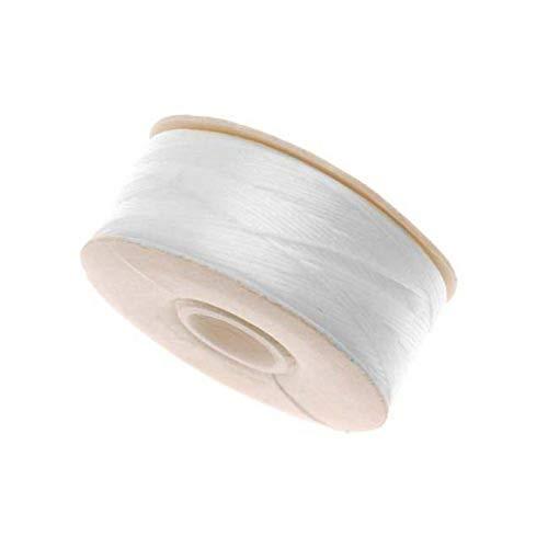 Nymo Perlenfaden für Delica-Perlen, Nylon, Größe D, 64 m, Weiß
