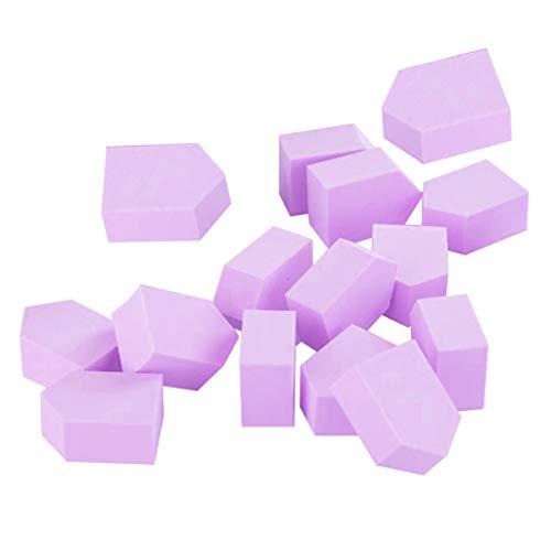 dailymall 15Pcs Maquillage Wedge Sponge Set Mélange Fond De Teint Liquide Puff Dry & Wet Use - Violet