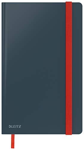Leitz kariertes Hardcover Notizbuch in A5 Format, 80 Blatt, Samtgrau, Cosy-Serie, 44540089
