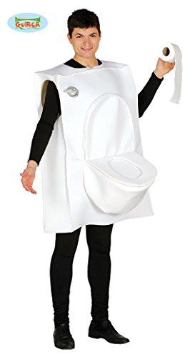 Guirca-84525 Disfraz Adulto WC Toilet Man T. 52-54, color blanco, (84525)