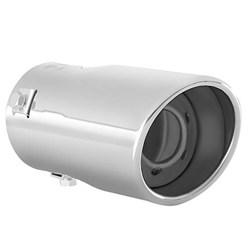 Exhaust tip - to Fit 1.75 to 2.25 Inch Exhaust Tail Pipe Diameter- Stainless Steel to give Chrome Effect - Car Muffler Tips