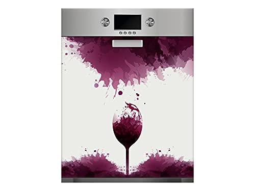 Oedim Vinilo para Lavavajillas Copas de Vino, Vinilo Decorativo para lavavajillas, decoración para cocinas, Pegatina lavavajillas