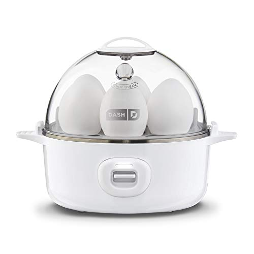 DASH Express Electric Egg Cooker 7 Capacity for Hard Boiled, Poached, Scrambled, or Omelets, with Auto Shut Off Feature, 360-Watt, White