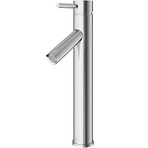 """VIGO VG03003BN 13"""" H Brushed Nickel Single-Handle Single Hole Vessel Deck-Mount WaterSense Bathroom Sink Faucet"""