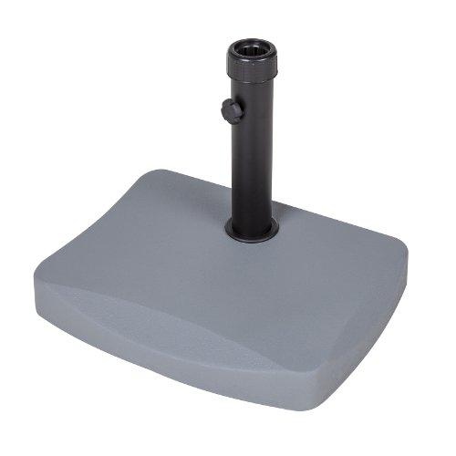 Alfresia 20kg Schirmständer für halbrunden Sonnenschirm (Grau)