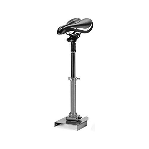 Laduup - Sillín de bicicleta eléctrico, monopatín, patinete, silla plegable, ajustable, sillín plegable, cojín amortiguador, asiento de patinaje, unisex, adultos, negro