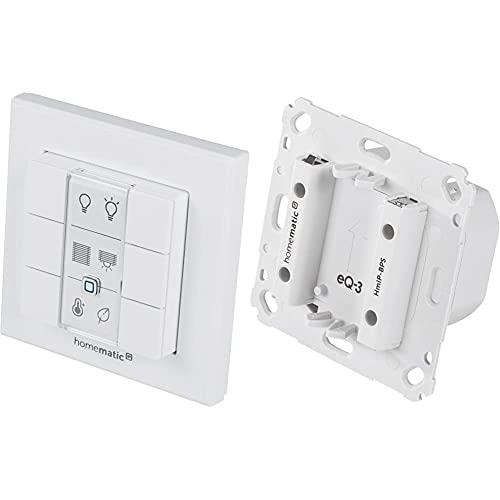 Homematic IP Wandtaster – 6-fach, 142308A0 & Netzteil für Markenschalter