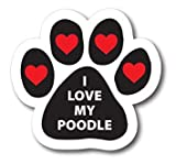 NGK Trading I Love My Poodle Pawprint Car by...