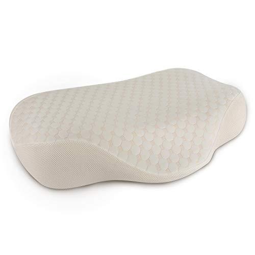 PiAEK Nackenstützkissen Memory Foam Ergonomisches Nackenkissen Schlafkissen für Seiten und Rückenschläfer mit Abnehmbarem Waschbarem Kissenbezug, Kreativ Tief Schlafen Kopfkissen