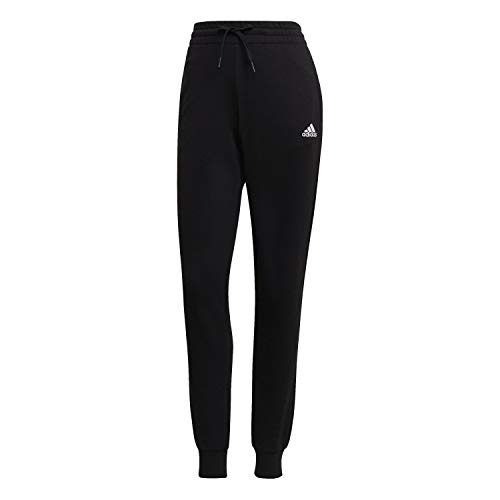adidas Damen Essentials French Terry Logo Trainingshose, Black/White, M