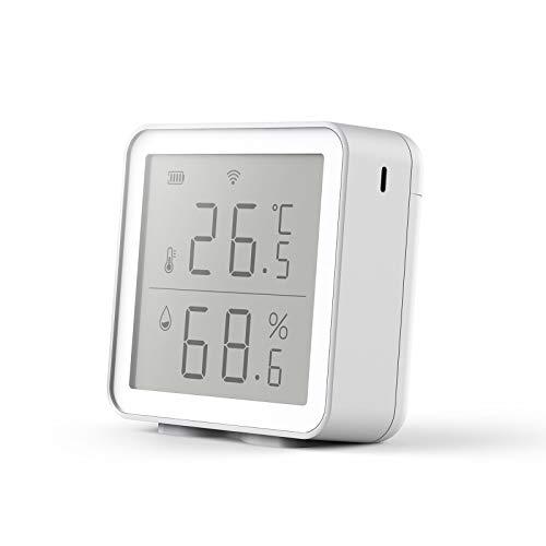 aixi-SHS Wi-Fi-Temperatur-Feuchtigkeitssensor Bildschirm zeigt Datendiagrammverlauf Smart Life APP Steuerung