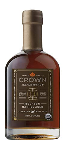 Crown Maple Organic Grade A Maple Syrup Bourbon Barrel Aged 127 Fl Oz Pack of 1