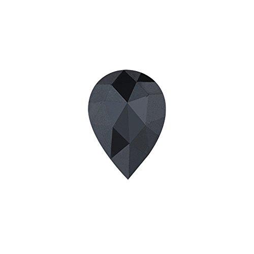 Vogati 3.99 Cts of 11.13x8.54x5.09 mm AA Pear Rose Cut (1 pc) Loose Fancy Black Diamond