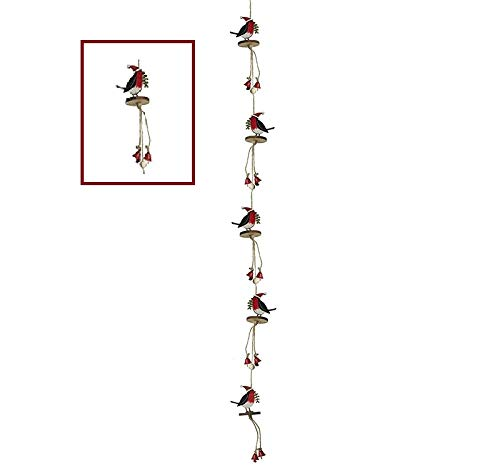 Heaven Sends - Ghirlanda in legno con campanelle decorative, accessorio perfetto per la casa di Natale