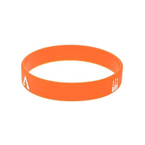 Xlin 1PC 1/2 Pulgada de Ancho Apex Leyendas de Silicona Pulsera de 4 Colores (Length : 20cm, Metal Color : Orange)