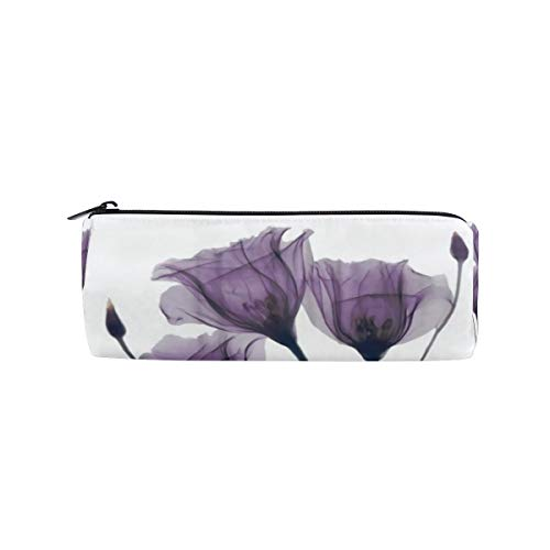 SunsetTrip Pencil Case Lavender Hope Flower Round Pencil Bag Zipper Stationery Pouch Bag Cosmetic Pen Bag for School Teenage Girls Kids Boys Office