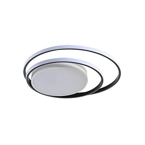 WANQINV Lámpara de techo LED incrustada minimalista nórdica 1.97in 46W-64W Lámpara redonda de techo de estanqueidad tricolor de hierro de aluminio 46W-64W Adecuado para instalación de superficie en sa
