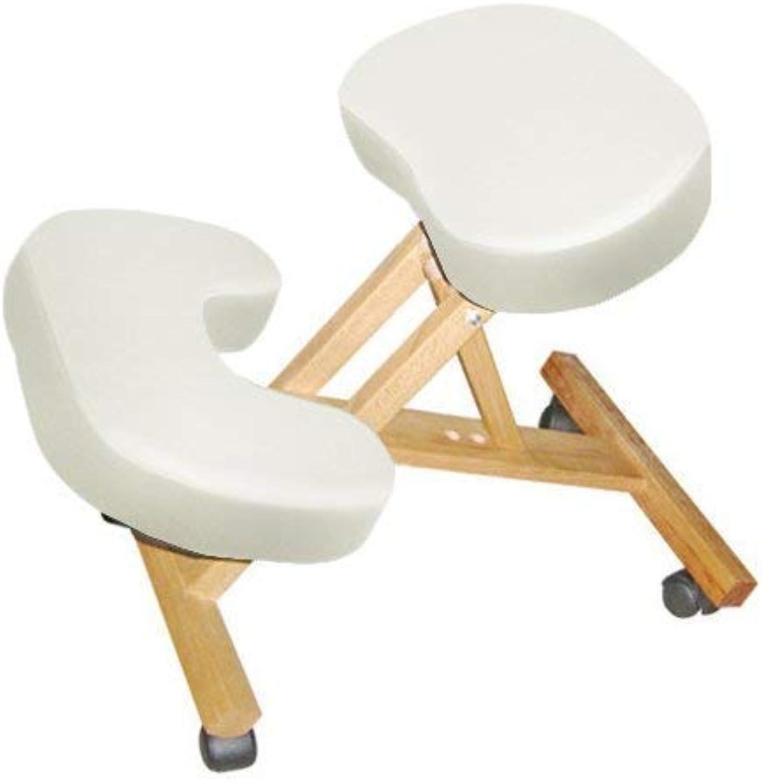 Mari Lifestyle Ergonomischer Kniestuhl aus Holz  Linderung von Rückenschmerzen & Verbesserung der Krperhaltung  Leichter, Orthopdischer Kniehocker  Klappbar & Bewegbar durch Rollen