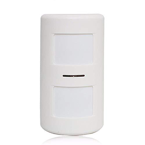 Detector de movimiento alarma inalambrico interior anti mascotas 25Kg, Sensor movimiento infrarrojo para alarma sin cuotas inmune a pequeños animales domesticos como perros y gatos