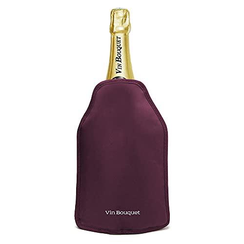 Vin Bouquet Pro Bolsa refrigeradora Sistema Antideslizante Patentado. Elástico Lateral para un Ajuste, Bordeaux, Original