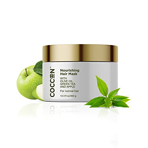 Coccoon Nourishing Hair Mask Women & Men  For Normal Hair  With Olive Oil, Green Tea & Green Apple  Intense Nourishment, Deep Conditioning & Frizz Control  Silky-Smooth Hair & Gives Strength & Shine  350g