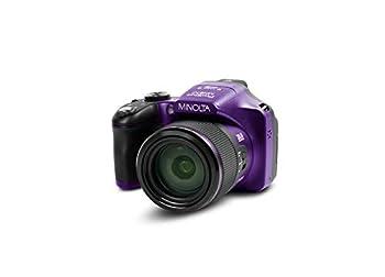 Minolta Pro Shot 20 Mega Pixel HD Digital Camera with 67x Optical Zoom Full 1080p HD Video & 16GB SD Card  Purple