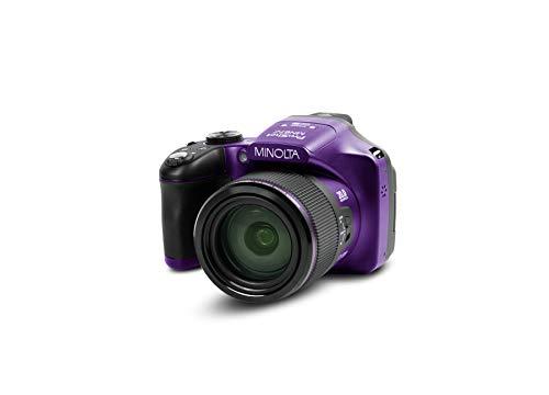 Minolta Pro Shot 20 Mega Pixel HD Digital Camera with 67x Optical Zoom, Full 1080p HD Video & 16GB SD Card (Purple)