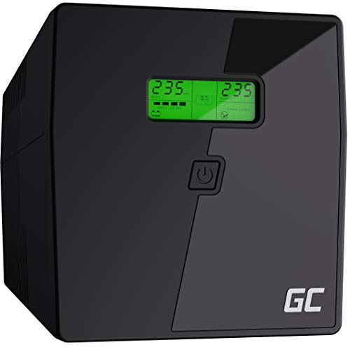 Green Cell® SAI Sistema de alimentación ininterrumpida UPS Potencia 2000VA (1200W) 230V Fuente de alimentación Continua Line Interactive senoidal AVR USB/RJ45 4X Schuko Tomas con Pantalla LCD