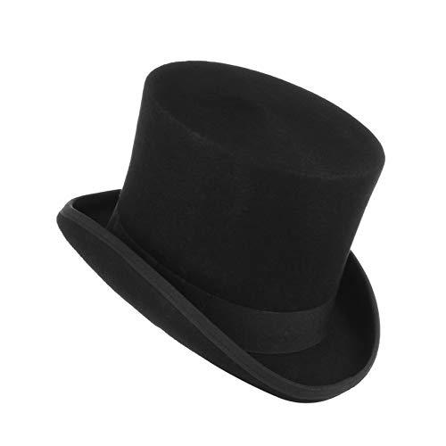 CHENGWJ Cap Fedoras Mannen Wol Voelde Bever Hoge Top Hoed Topper Derby Cilinder Hoed Voor Vrouwen Mannen Mad Hatter Party Kostuum Magician Cap Top hoed