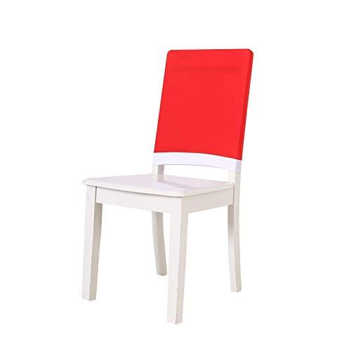 Namvo Juego de 4 fundas para respaldo de silla de Navidad, diseño de Papá Noel, para Navidad, comedor, cocina, fiesta, decoración