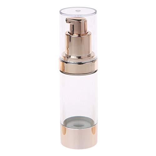 Cosmetic Bottles, Empty Cosmetic Airless Bottle Plastic Treatment Pump Travel Bottles 15/30/50ML-2