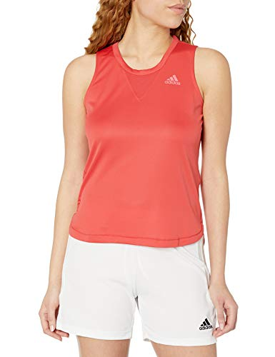 adidas Women's Training 3-Stripes Tank HEAT.RDY Glory Red X-Small
