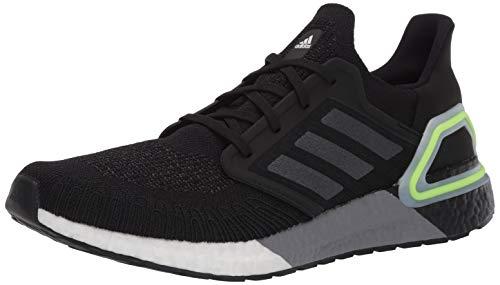 adidas Men's Ultraboost 20 Running Shoe, Black/Night Metallic/Signal Green, 9.5 M US