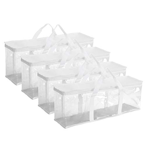 Fasmov White DVD Storage Bags Hold up to 160 DVDs (40 Each Bag), Set of 4