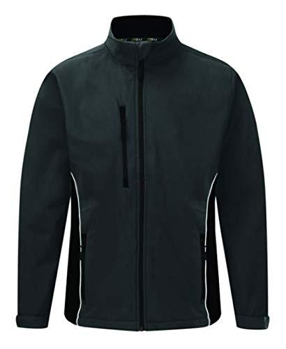 ORN Workwear 4280 Silverswift - Giacca softshell bicolore, colore: bottiglia/nero, taglia 3XL