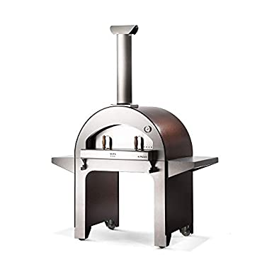 Alfa FX4PIZ-LRAM 4 Pizze Outdoor Stainless Steel Wood Fired Pizza Oven