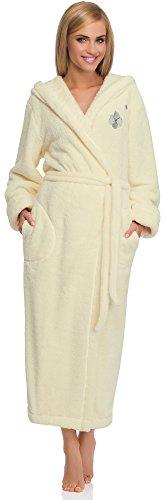 L&L Accappatoio Vestaglia Donna con Cappuccio Peggy ExtraLong (Ecru, L)