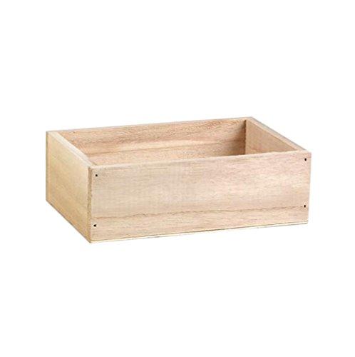 Demarkt–Mini madera caja caja de madera caja de madera caja de madera organizador de plantas Maceta Desktop Soporte para joyas