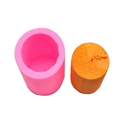 Nobenx Moldes para Velas 2pc DIY Herramientas para Hornear Panal De Panal, Vela Perfumada Molde De Yeso Hecho A Mano Decoración De Yeso con Aroma A Mano (Size : Pink 280g)