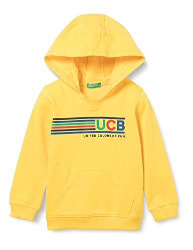United Colors of Benetton Maglia C CAPP. M L 3CY4C2278 Sudadera con Capucha, Amarillo 3n7, 104 cm para Niños