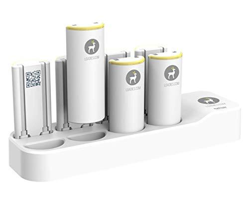 LOADIES Estación de carga con 8 baterías externas.