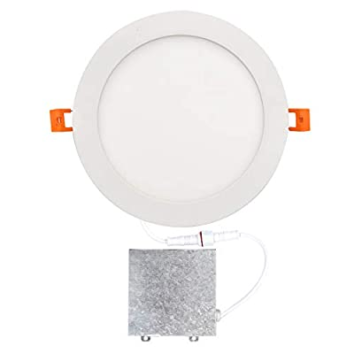OSTWIN 8 inch LED Recessed PROFILE SLIM ROUND PANEL Light with Junction Box