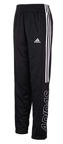 adidas Boys' Tapered Trainer Pant (X-Large, Black Outline)